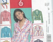 Girls Juniors Teen Children Jacket Sewing Pattern * Girls Juniors Lined Jacket * UNCUT * Sizes 3 / 4, 5 / 6, 7 / 8 , 9 / 10 * McCall's M5058
