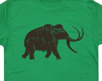 Big Wooly Mammoth T Shirt Elephant T Shirt Cool Animal Shirt Cute Womens Shirt Yellowstone T Shirts Bison Buffalo T Shirt Dinosaur Tees