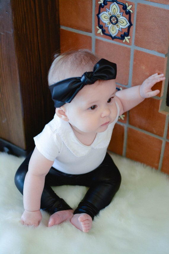 Faux leather leggings baby leggings baby pants toddler