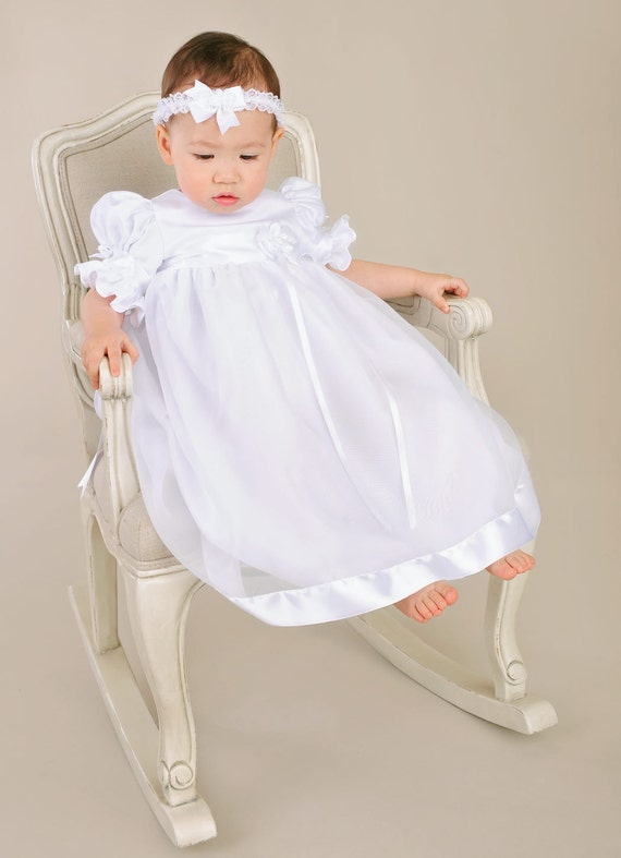 Clarice Christening Gown Baptism Gown LDS Blessing Gown for