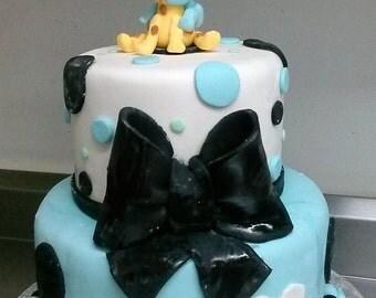Giraffe and Baby cake topper