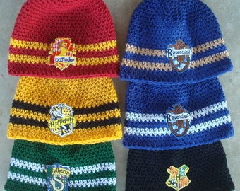 Hogwarts House Colors Patched Beanies