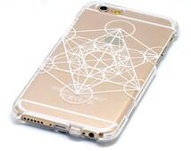 Sacred Geometry Design Pattern Transparent Case iPhone 6, 7, SE, 6 Plus, 7 Plus, 6S, 5, 5C, 5S, Galaxy S6, S7, Note 5, Note 7