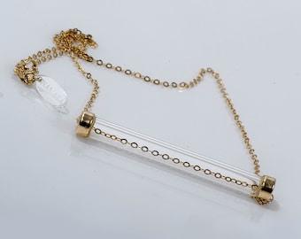curved gold bar necklace horizontal gold bar necklace tube. Black Bedroom Furniture Sets. Home Design Ideas