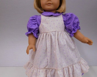Lavender Pinafore Style Dress