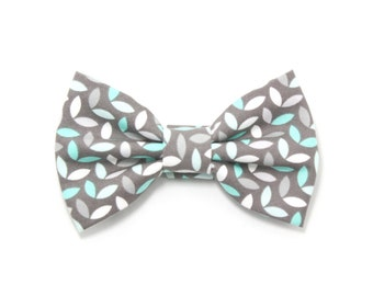 Grey Mint Dog Bow Tie Cat Bow Tie Wedding Preppy Dog Bowtie - Jason