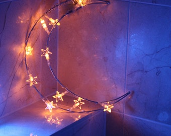 Kids room Moon Light, Kids room decor, Romantic lighting, Moon Fairy Light, Moon bedroom decor, childrens nightlight, moon decor