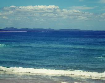Fine art photography print surf wall decor ocean photography nautical beach decor wave art Australia photo navy blue white teal wall art