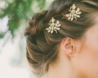 Gold Rose Hair Pins Rose Bobby Pins Rose Hair Clips Bridal Rose Hair Accessories Flower Hair Bobby Pins Flower Hair Clips Bridal Flower Hair