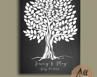 Wedding guest book Tree - Tree Wedding guestbook - Alternative guestbook - Chalkboard Wedding Poster - Wedding Tree - Wedding gift ideas