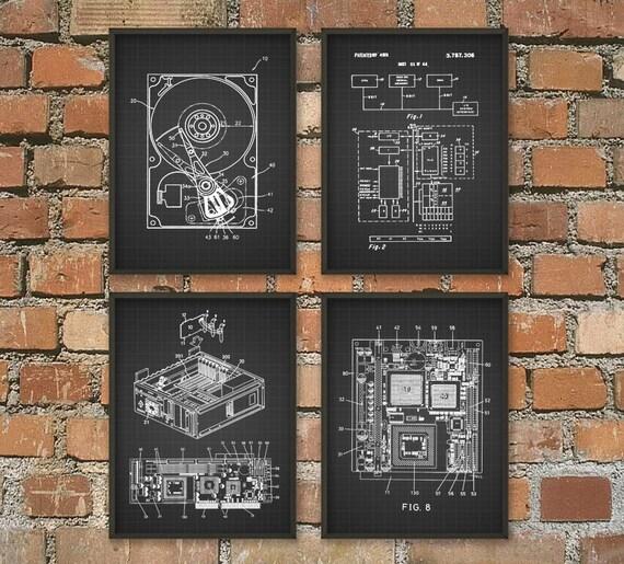 Ti Design Wall Art : Computer geek wall art poster set of no room