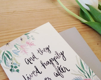 And They Lived Happily Ever After | Wedding Congratulations Card