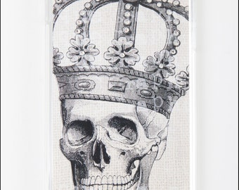 Samsung Galaxy S6 S5 - Diamond Skull & Crown   Hard Back Case Skin Cover for S5 S6