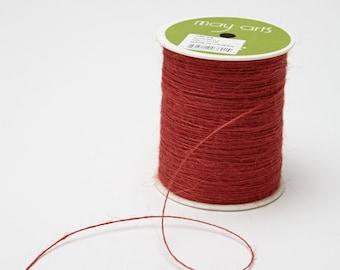 Red String Burlap Ribbon - 20 Yards