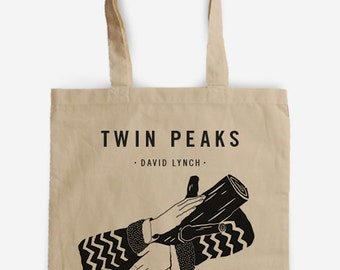 Tote bag Tribute to Twin Peaks - Cooper's Agent - Ask my log - David Lynch