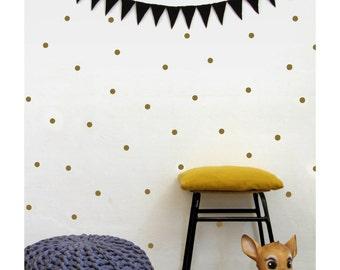SALE!!! Gold dots wall decals, dots wall stickers, polka dot wall decor