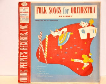 Old Records. 78 RPM Records. 78 RPM. Vinyl Record. Records. Young People's Records. Folk Songs for Orchestra. Liadow. 1940s Records.