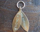 Pet ID Tag - Hand Stamped Brass Tassel