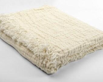 Linen Blanket - Duplex Linen blanket - Bedspread - Picnic blanket - Beach blanket - Throw blanket - Natural gift