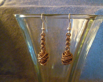 Tumble Weed Wire Earrings