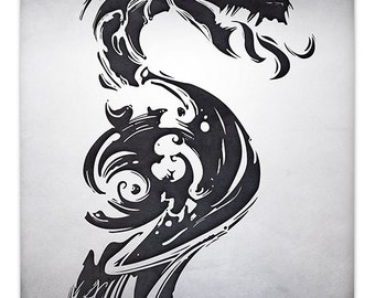 Mark of the Dragon, Destined Legends [ Print ] - by Denis Caron - Corvink