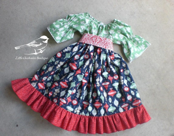 Girls Christmas Dress Infant Christmas Dress Toddler Christmas Dress 6-12M,12-18M, 24m/2T, 3t, 4t, 5, 6, 7, 8 Classic Christmas Vintage