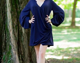 UNIQUE Plus size dress, Maternity dress,Punk long Sleeves, Oversize sleeves, Oversize dress