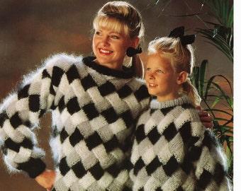 Entrelac sweater Etsy