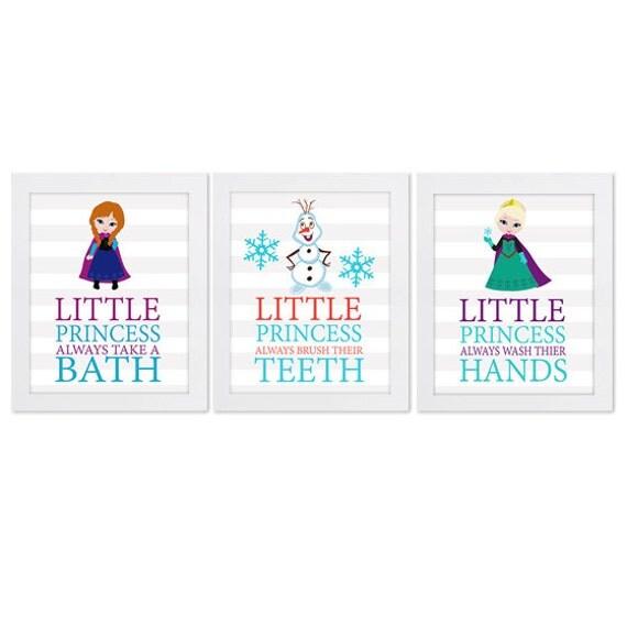 Instant download frozen anna elsa olaf bathroom art by - Anna s linens bathroom accessories ...