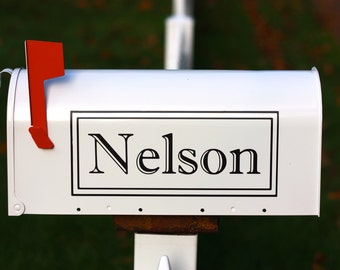 Mailbox Decal Single Custom Last Name Personalized Vinyl Mailbox Lettering and Numbers Decal Decor
