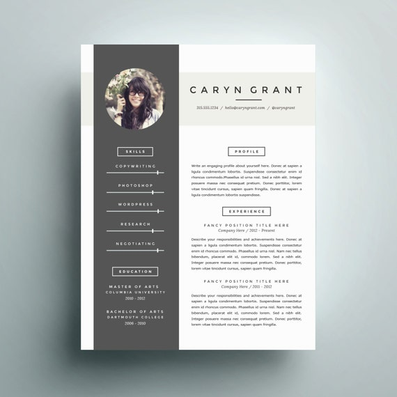 professional resume template and cover letter by