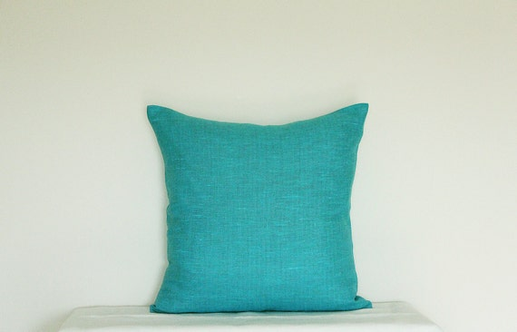 Decorative Bright Teal Blue Pillow Turquoise Pillow Cover