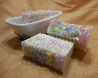 Birthday Cake Soap - Birthday Party - Birthday Cake - Unique Gift - Handmade Decorative Goats Milk Soap - Gift For Her - Kids Party Soap