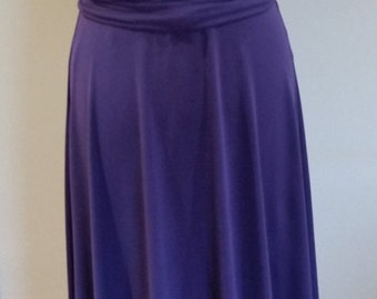 Infinity Multiway Convertible Twist Wrap Dress Bridesmaid Wedding Prom Evening Purple