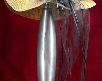 Embellished Natural Floppy Hat