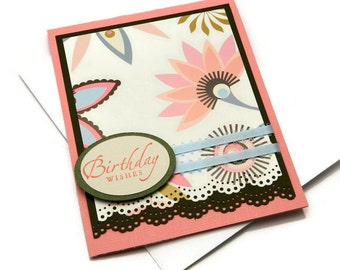 Bday Cards For Her - Best Friend Birthday - Birthday Cards - Floral Card Messages - Thoughtful Wishes - Stampin Up Cards - Greetings Cards