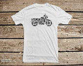 Motorcycle Collage of Bikes, Choppers, Dirt Bikes and Parts - Men's Cotton T Shirt
