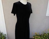 90's Black Velvet Dress // Long Black Dress // Long Velvet Dress // Stretch Velvet Dress // Black Maxi Dress Black Tshirt Dress  90s Grunge