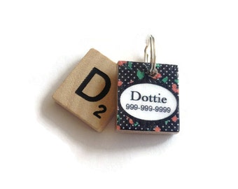 Cherrie Berry Scrabble Dog ID Tag - Pet Tag - Dog ID Tags - Unique Dog Tag