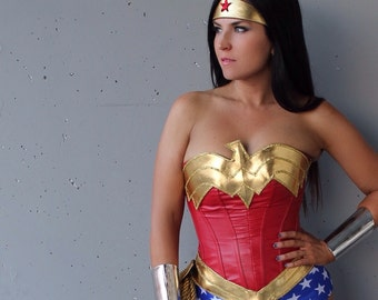 Classic Wonder Woman COSTUME w/ Royal Blue Star-Spangled Bottoms