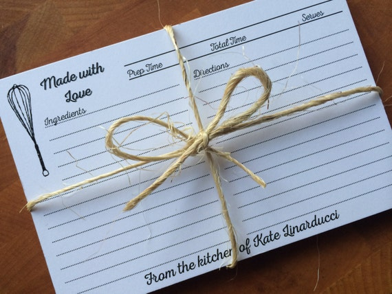 Wedding Gift Recipe Cards : 30Made with Love PERSONALIZED RECIPE CARDS Wedding Kitchen Shower Gift ...