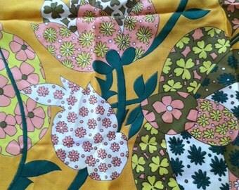 Large Vintage Scarf/Bandana Hippie Floral Pattern