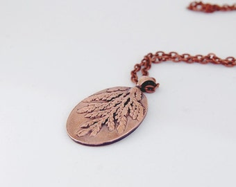 Cedar Sprig Pendant *nature-inspired jewelry*