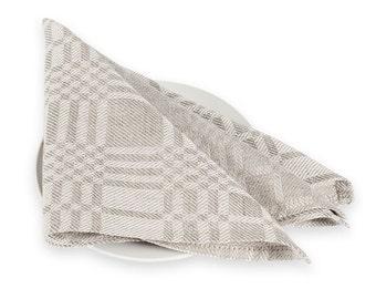 Linen napkin set of 6 - grey - 18x18 inch size