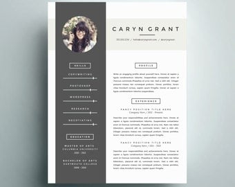 professional resume template and cover letter template for word diy digital download the caryn - Modern Cover Letter Template