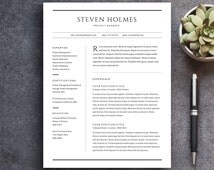 unique creative resume related items   etsyresume template and cover letter template  professional design cv  download custom word doc