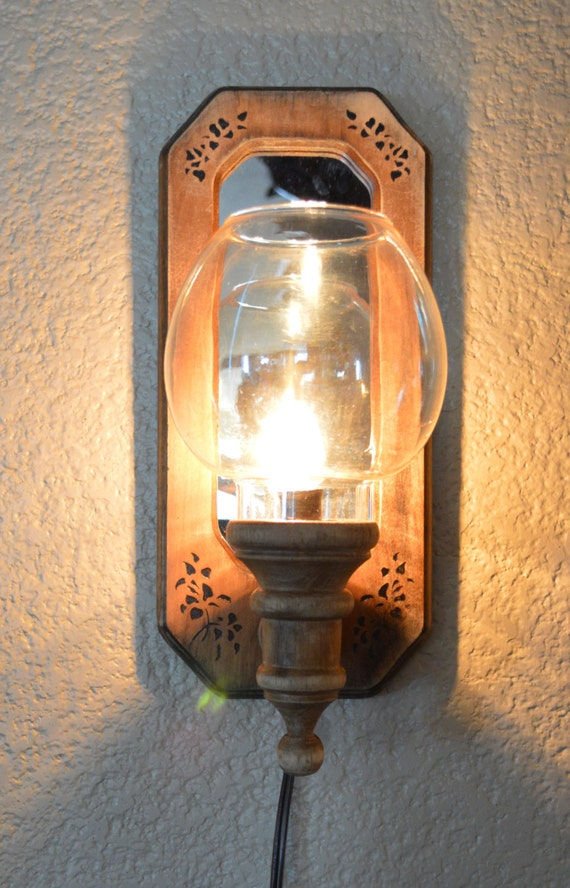 Clearance 50% off Rustic Wooden Electric Light Wall Sconce