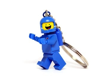 Benny Keychain made from Genuine LEGO®  Minifigure from The LEGO Movie(tm)