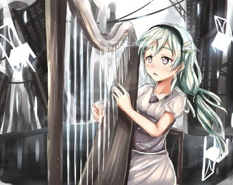 Custom Anime Commissions  - Kawaii manga cute moe prints digital art custom customizable Original or Fanart background