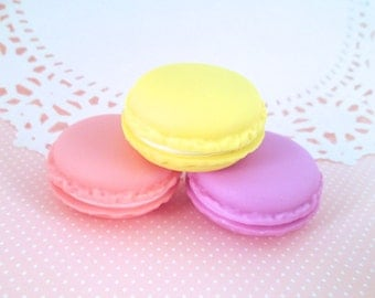 Lavender  Macaron Cookie Containers, Jewelry Box for Storage of Beads, Etc...